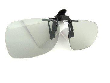 passiver 3D Brillen Clip für RealD Kino und TV z.B. LG Cinema 3D Philips Easy 3D Toshiba 3D Natural Vizio 3D Polarisationsbrille Polarisationsbrillen