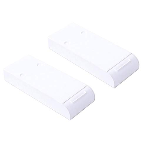 Ktyssp Punch Free Under-The-Table Drawer Office Storage Box Hidden Paste Style Table Drawer 2pc (White)
