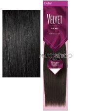 """in budget affordable Hair Extension Out Level Velvet Remi 14 Silky # 1"""""""