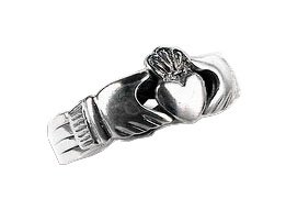 Sterling Silver Celtic Claddagh Puzzle Band Ring Size 8(Sizes 6,7,8,9,10,11,12)
