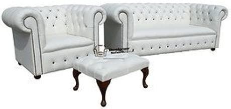Designer Sofas4u Chesterfield de Cuero sofá 3 plazas de ...