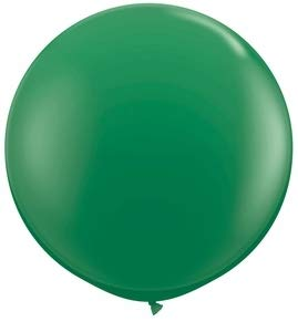 6 ft / 72 Inch Giant Jumbo Round Latex Climb-in Balloon (Premium Quality), Pack of 1, Green