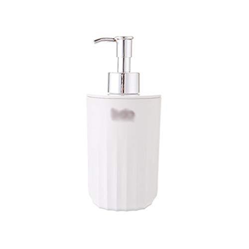 Aveo Seifenspender nachfüllbar Soap Pumpflasche Badezimmer Dusche Spender Shampoo, Duschgel-Flaschen (Color : White, Größe : 400ml)