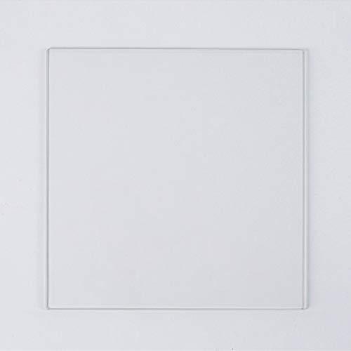 Placa de vidrio de borosilicato 235 mm x 235 mm x 4 mm para impresoras 3D, vidrio perfectamente plano con bordes pulidos
