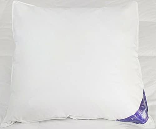 Welt-der-Träume ÖKO -TEX 100% Natur DAUNEN Kissen Federn KOPFKISSEN Verschiedene Füllungen 80x80 Kopfkissen Kissen Daunenkissen Bettdecken (1380gr (80x80cm))