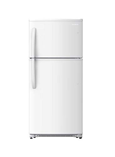 Daewoo RTE18GSWMD Top Mount Refrigerator, 18 Cu.Ft, White