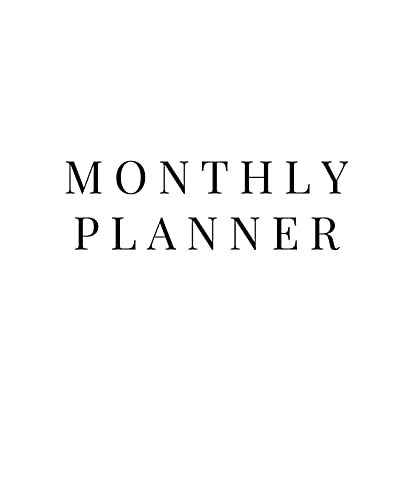 Monthly Planner: 12 Month Planner without Month labeling to start at any time of the year. 4 categor