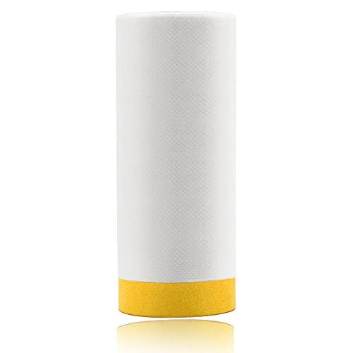 Plastico para Cubrir Muebles, Película Protección para Pintura Automotriz, Transparente Película de Plástico Resistente al Agua y al Polvo, 2,4X15M