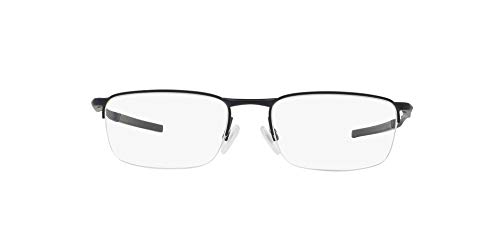 Oakley Men's OX3174 Barrelhouse 0.5 Metal Rectangular Prescription Eyeglass Frames, Matte Midnight/Demo Lens, 53 mm