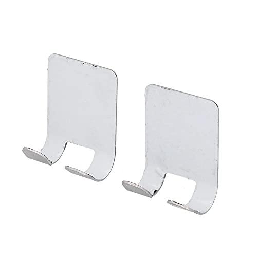 Ganchos adhesivos, superficie lisa autoadhesiva que puede contener 11 libras Soporte de maquinilla de afeitar de estilo simple para baño para dormitorio para cocina