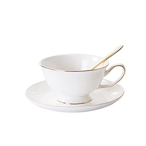 GYZD Copas y platillos de Porcelana Cappuccino con cucharas de Espresso Copas de café Espresso para Latte, Café Mocha y té, Demitasse Cup