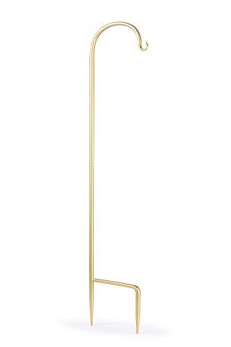 Schäferhaken 89,9 cm, rostfrei, langlebig, starke Outdoor-Haken, Stange für Lichtern, Pflanzen, Blumen, 2 Stück