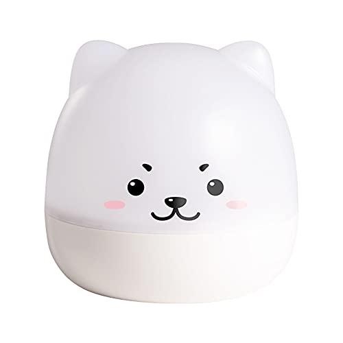 BERJMA Simple Cute Pet lámpara de proyección cielo estrellado rotación caja de música atmósfera colorido romántica proyección lámpara carga