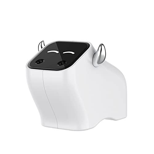 jwj Mejor humidificador Adorable Calf Montado en el Hogar Purificador de Aire Silencioso Spray Humidificador Aroma Difusor 2W Humidificadores aceites esenciales (Color: Blanco)