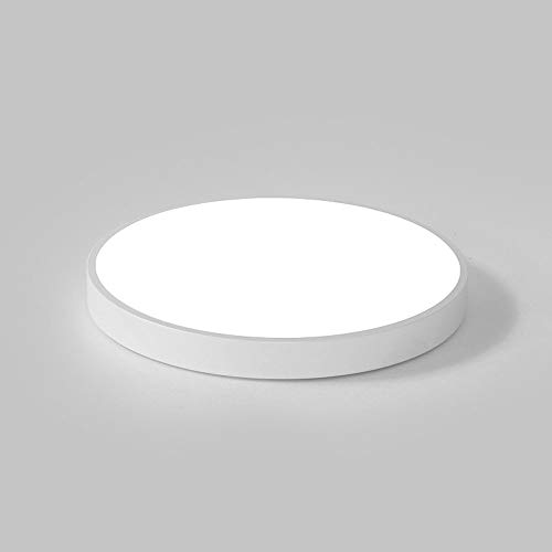 WFZRXFC Lámpara de techo LED de montaje empotrado, plana, moderna, minimalista, redonda, interior, lámpara de techo, 1.9 pulgadas, ultrafina, lámpara de techo para el hogar, para habitaciones, pasillo