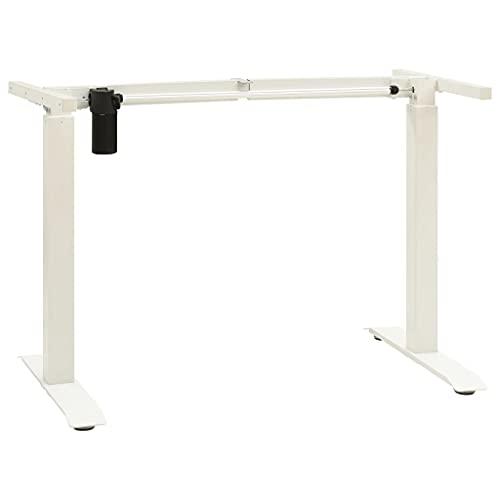 vidaXL Schreibtisch Gestell Elektromotorisch Elektrisch Höhenverstellbar Tischgestell Arbeitstisch Schreibtischgestell Schreibtischrahmen Weiß