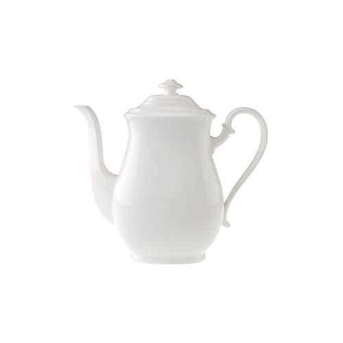 Villeroy & Boch - Cafetière Royal, Verseuse en Porcelaine Classique avec Couvercle, en Porcelaine Bone Premium, Compatible Lave-Vaisselle, 1 100 ml