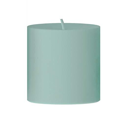 Engels Kerzen gegossene Stumpenkerze, Lagune, 8x8cm