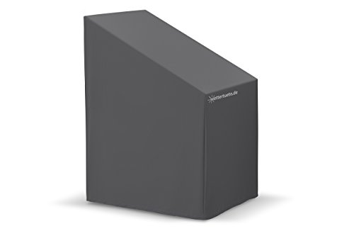 wettertuete Stuhlstapelabdeckung 70 x 85 x 120/80 cm (BxLxH) wasserdicht, atmungsaktiv, verschweißte Nähte, UV-Schutz, Abdeckplane, Abdeckhaube