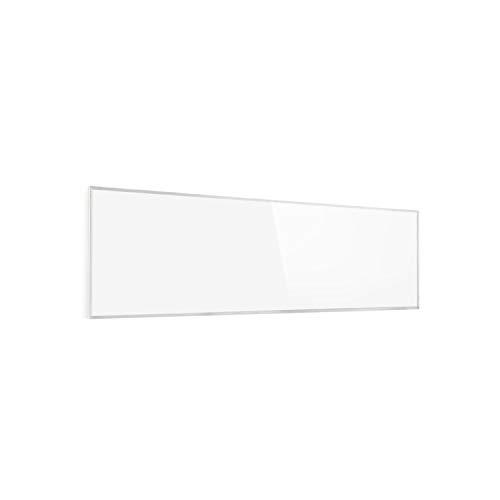 Klarstein Wonderwall - Pannello Riscaldante a Infrarossi, Cristalli di Carbonio, Antiallergico, IP24, Termostato, Timer, 300W, 30 x 100 cm, Bianco Antico