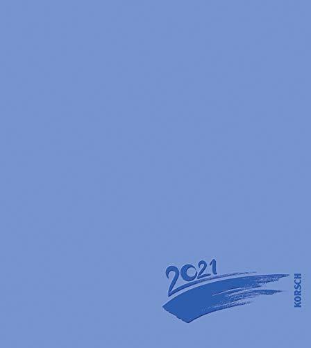 Foto-Malen-Basteln Bastelkalender blau 2021: Fotokalender zum Selbstgestalten. Do-it-yourself Kalender mit festem Fotokarton. Edle Folienprägung. Format: 21,5 x 24 cm