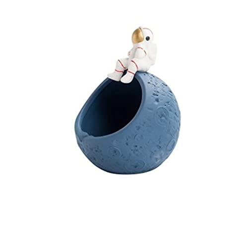 DAGONGREN Cenicero Decoración para el hogar Portátil Cenicero Cerámica Cerámica Caja de Almacenamiento Creativo Boyfriend Gift Nordic Astronauta cigarros ceniceros (Color : D)
