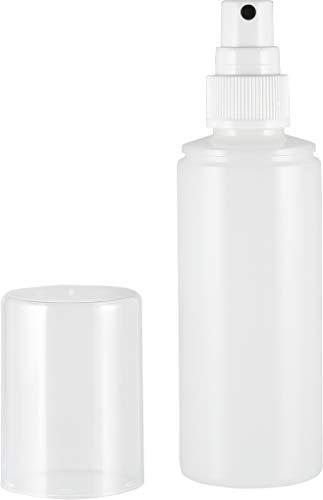 Sprühflasche 100ml (leer) mit Zerstäuber - transparent milchig - nachfüllbar
