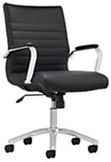 Realspace(R) Winsley Mid-Back Chair, Black