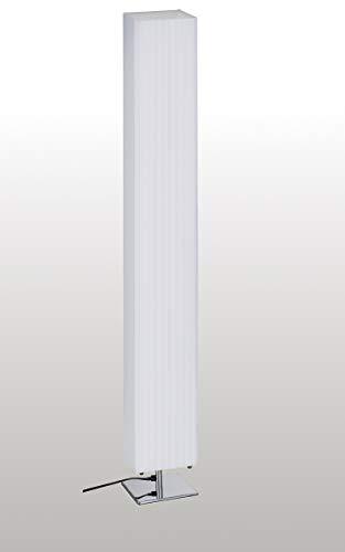 Trango 120SL Design Plissee LED Stehleuchte *CANNES* Stehlampe inkl. 2x 4 Watt E27 LED Leuchtmittel, Wohnzimmer, Lampe, Standleuchte eckig – Lampenschirm Länge:14cm - Breite: 14cm - Höhe: 120cm