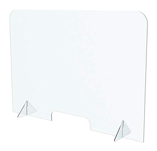 Generisch Schreibtisch Trennwand - Schreibtischaufsatz - Tischtrennwand Buero Stellwände Trennwand Büro Trennwand Raumteiler Sichtschutz Wand Plexiglas Sichtschutz Plexi Transparent 100x70 cm