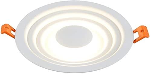 XQMY Luz empotrada LED de Faro de Personalidad Creativa, lámpara de Techo empotrada de luz de Agujero de Pasillo de Pasillo de Sala de Estar