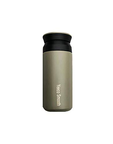 Yeeco Smooth (Oliv) wiederverwendbarer 350ml Coffee to go Becher mit doppelwandiger Isolierung | Edelstahl Isolierbecher mit Schraubverschluss | BPA Frei Travel Mug | hält 12h heiß und 24h kalt |