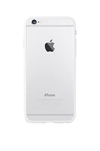 Ozaki OC560WH 0.3 stoßabsorbierender Bumper mit transparenter Rückseite inkl. Displayschutzfolie für Apple iPhone 6 / 6S