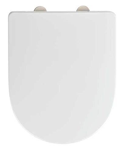 WENKO WC-Sitz Exclusive Nr. 10, hygienischer Toilettensitz mit Absenkautomatik, passend für Laufen Pro und handelsübliche Keramiken, WC-Deckel aus antibakteriellem Duroplast, 36,5 x 47 cm, Weiß