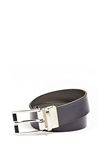 Guess Uomo Cintura Reversibile Blu/Grigio MOD. BM7257 LEA35 XL