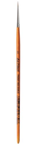 da Vinci Watercolor Series 1520 Paint Brush, Round Pure Red Sable with Short Brown Lacquered Handle, Size 2/0 (1520-00)