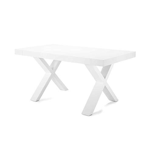 Mocada Paride Bianco Frassinato Tavolo allungabile Design 160x90