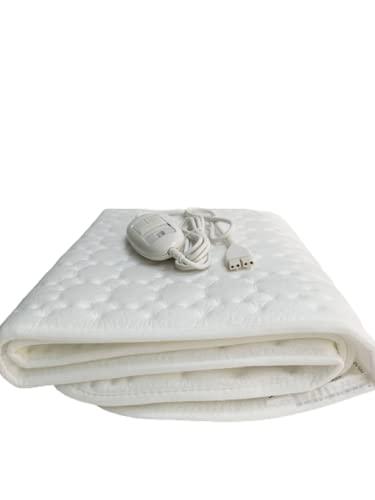 Beurer TS19 Calientacamas individual reversible, transpirable, lavable, 3 potencias, display iluminado, cama individual, 75x130cm, blanco