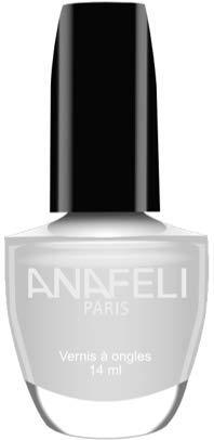 Anafeli Paris - Esmalte de uñas, color blanco nacarado