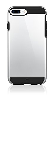 Black Rock - Air Protect Case Hülle kompatibel mit Apple iPhone 6+/6S+/7+/8+ | halb-transparent, durchsichtig, TPU Cover (Schwarz)