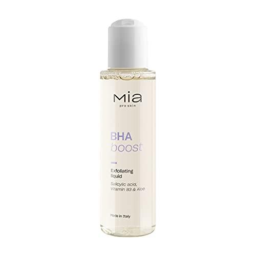MIA Makeup Bha Boost Líquido Exfoliante Ácido Salicílico, Vitamina B3 y Aloe, Estimula la Renovación Celular