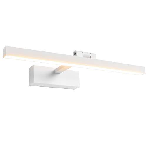 Klighten LED Spiegelleuchte 9W 180° Rotation Badleuchte für Wandbeleuchtung und Badzimmer, Schminklicht Wandleuchte Badlampe, 3000K Warmweiß