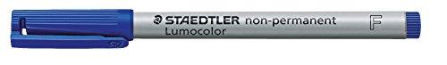Staedtler® 316-3 Overheadstifte-und Etuis,Korrekturmarker,Overheadtextmarker Feinschreiber Universalstift Lumocolor Non-permanent, F, blau