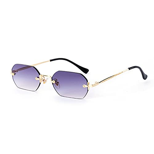 LUOXUEFEI Gafas De Sol Gafas De Sol Sin Montura Rectangulares Para Mujer Y Hombre, Gafas De Sol Cuadradas Pequeñas Para Mujer, Gafas De Viaje