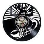 wtnhz Reloj de Pared con Disco de Vinilo LED with LED-Reloj de Pared con Disco de Vinilo Movimiento de Cuarzo Reloj de Pared con CD clásico