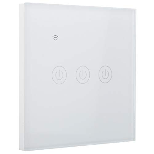 Interruptor WiFi inteligente DS ‑ 101‑3, interruptor inteligente WiFi inalámbrico montado en la pared, interruptor WiFi inteligente de 3 vías, interruptor WiFi con control remoto 200‑240 VCA