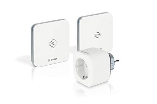 Bosch Smart Home - Detectores de inundación con función de aplicación (número abreviado de Llamada de Emergencia en la aplicación, Antideslizante, Compacto, extensión señal de Radio)