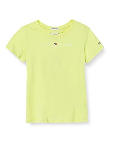 Tommy Hilfiger Essential tee S/S Camisa, Lima Desteñida, 86 (Talla del Fabricante: 18 Meses) para Niñas