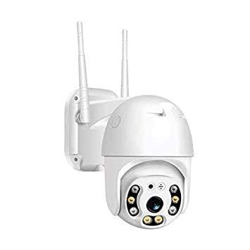 V.T.I. HD WiFi 1080P IP Camera 8 LEDs Infrared Zoom Outdoor Camera Full-Color Night Vision Surveillance Camera Waterproof PTZ