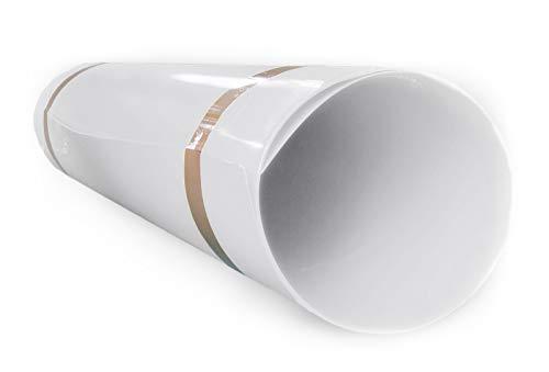 A+H Hart PVC Kunststoffplatte 2000x1000x1 mm mit einseitiger Schutzfolie - Farbe Weiß